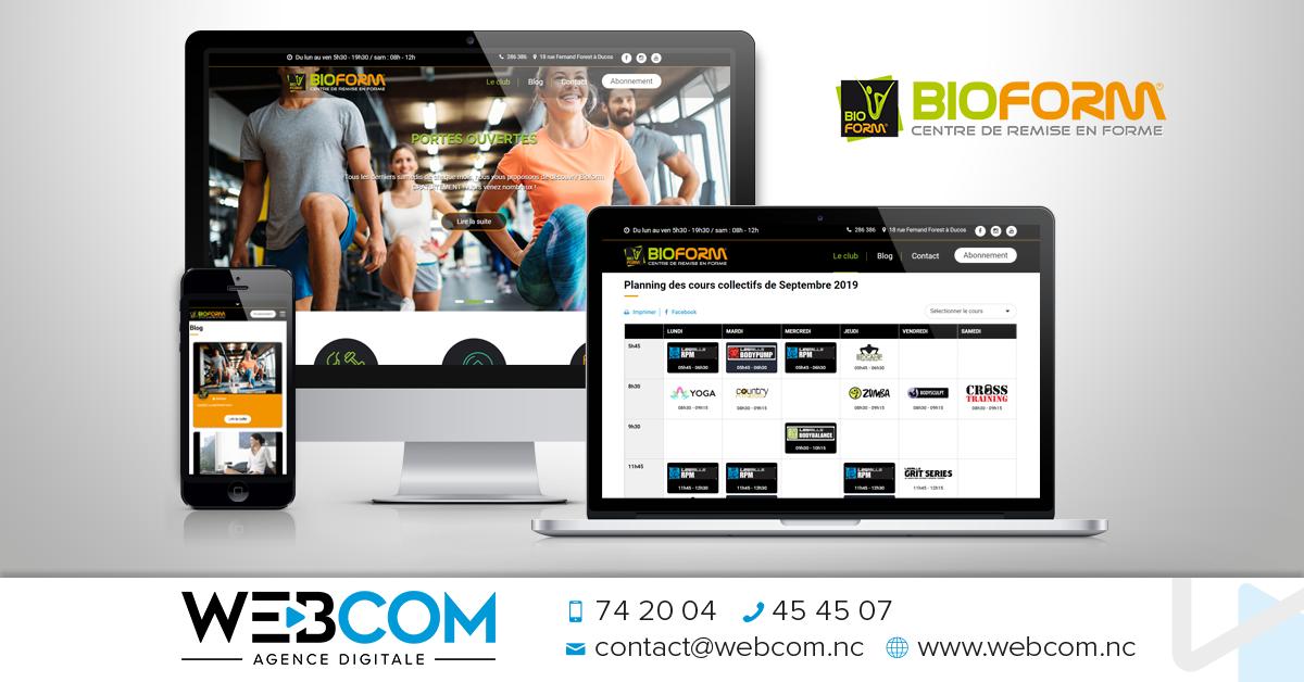 Création du site internet BIOFORM