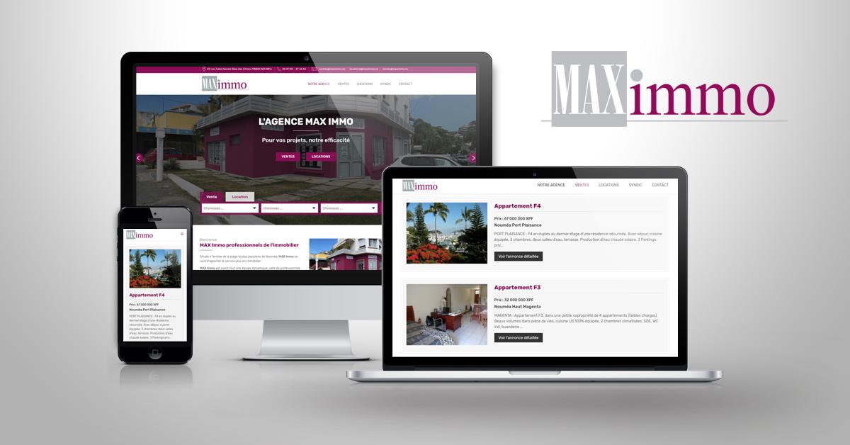 Création du site internet MAXIMMO