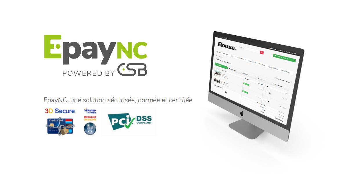Mise en place du paiement en ligne EpayNC sur House Store