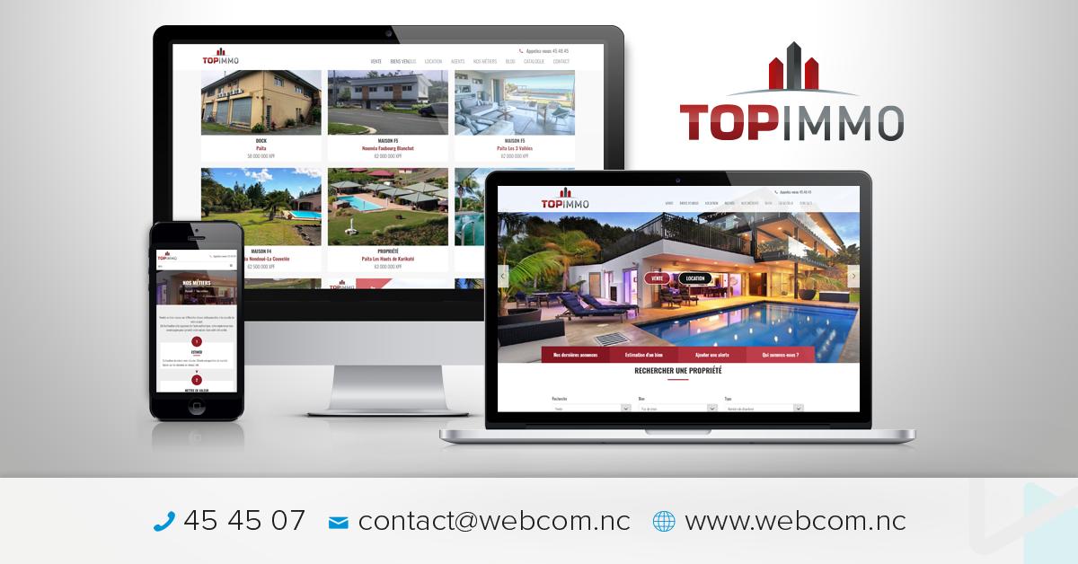 Création du site internet de l'agence TOPIMMO