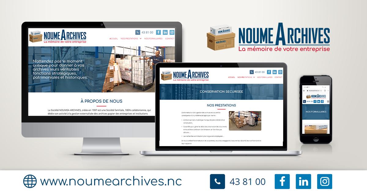 Création du site internet Nouméa Archives