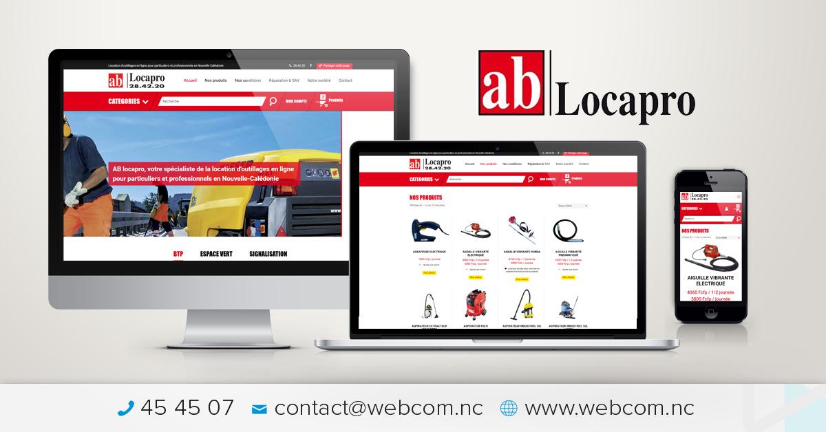Création du site internet AB LOCAPRO
