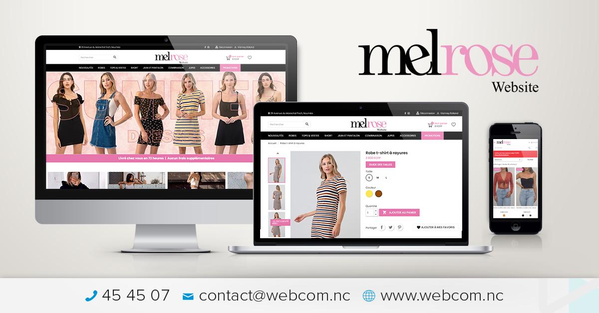 Création du site e-commerce Melrose