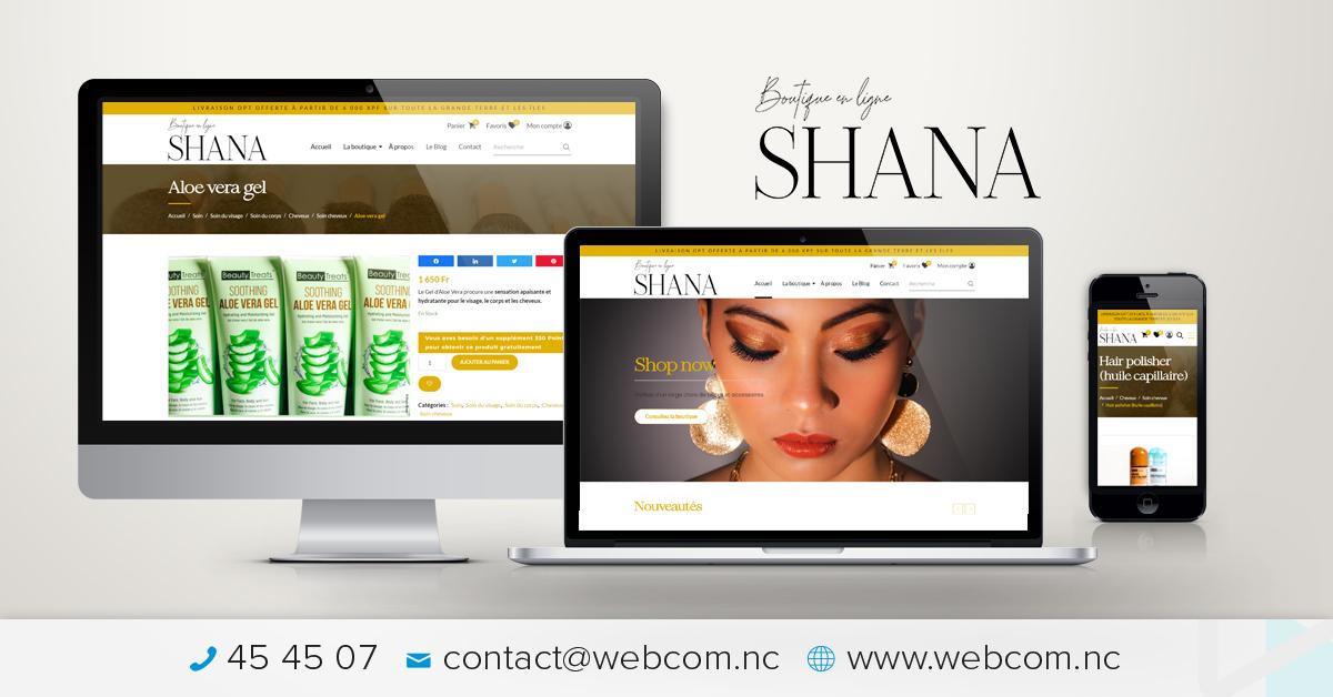 Création du site internet Shana